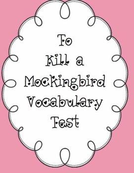 To Kill a Mockingbird Vocabulary Test