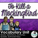 To Kill a Mockingbird Vocabulary Words, Activities and Quizzes