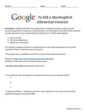 To Kill a Mockingbird Webquest