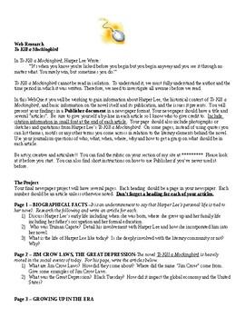 To Kill a Mockingbird Webquest / Newspaper / Introduction / Before You Read