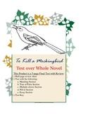 To Kill a Mockingbird Whole Novel Test w/ Key-Matching, T&F, MC, Fill-In, Essay