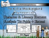 To Kill a Mockingbird by Harper Lee Character & Plot Analysis Tri-Folds