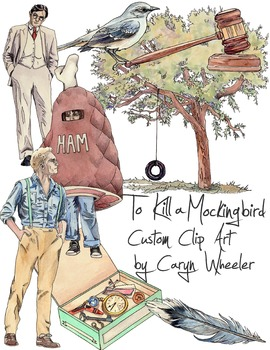 To Kill a Mockingbird by Harper Lee Clip Art Package
