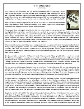 To Kill a Mockingbird by Harper Lee - GCSE Reading Comprehension / Text