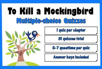 To Kill a Mockingbird by Harper Lee Multiple Choice Chapter Quizzes