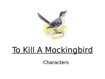 To Kill a Mockingbird characters