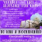 To Kill a Mockingbird project-based full unit bundle w/ research presentation