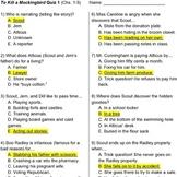 To Kill a Mockingbird Quizzes (6 reading checks)