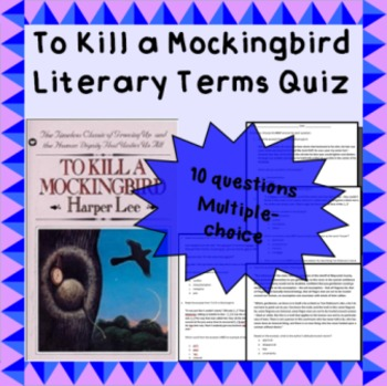 To Kill a Mockingbird short literary vocabulary quiz