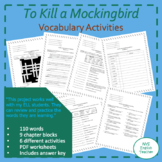 To Kill a Mockingbird vocabulary definitions