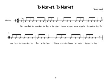 """To Market"" an exploration of phrases, instrument technique, and timbre"