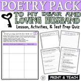To My Dear and Loving Husband Bradstreet:Poetry Test Prep