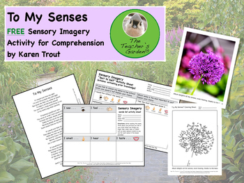 To My Senses FREE Sensory Imagery Activity for Comprehension.pdf