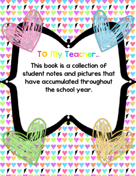 To My Teacher Class Book - Where to Put All Those Student Pictures & Notes