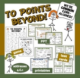 To Points Beyond! 1-D geometry game + ppt + printables set – Common Core aligned