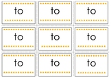 To Pre-Primer Sight Word Flash Cards