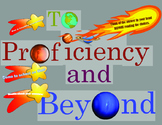 To Proficiency and Beyond! Test taking tips bulletin board printables!