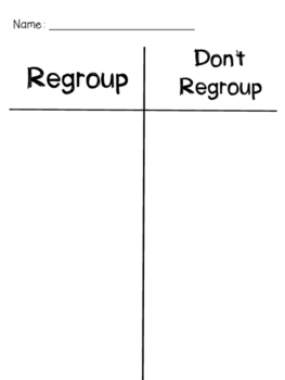 To Regroup or Not to Regroup? {An Addition Sorting Activity}