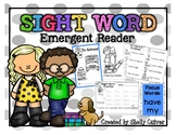 To School -SIGHT WORD Emergent Reader with worksheets -Foc