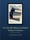 """To Set Our House in Order"" -- Margaret Laurence -- Short Story"