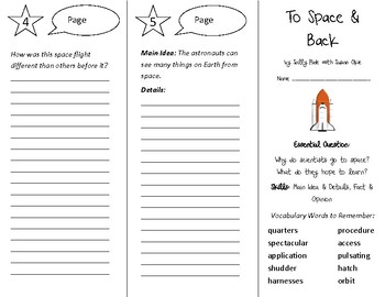 To Space and Back Trifold - Open Court 4th Grade Unit 2 Lesson 5