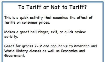 To Tariff or Not to Tariff