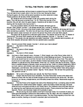 To Tell The Truth: Chief Joseph, AMERICAN HISTORY LESSON 93 of 150, Popular Game