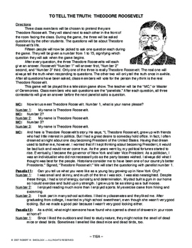 To Tell The Truth: Theodore Roosevelt AMERICAN HIST. LESSON 116 of 150, Popular!