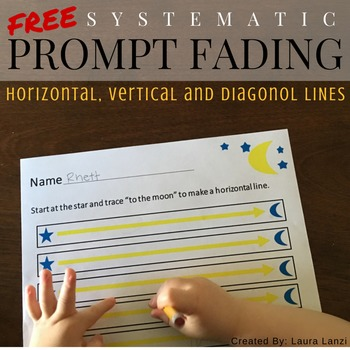 Handwriting Practice: Pre Writing Line Trace FREE