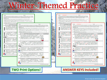 To, Too, Two: 1-Page Winter-Themed Practice