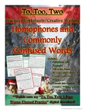 To, Too, Two: Holiday-Themed 3-Page Practice Worksheets an