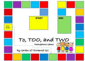 To, Too, Two Homophones Game