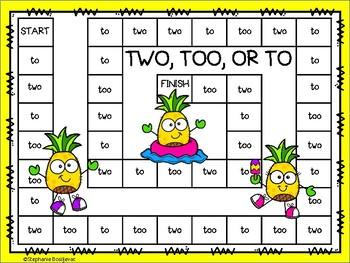 To, Too, and Two (Homophones)