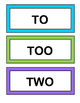 """To, Too, and Two!"" - Learn about Homophones with a Game, Craft, and Song"