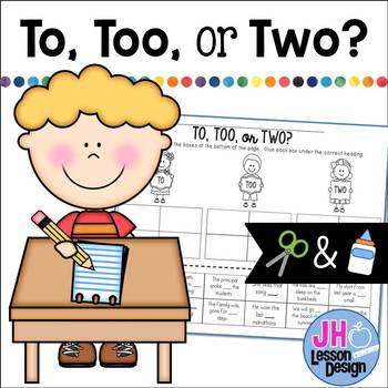 To, Too, or Two? Cut and Paste Sorting Activity