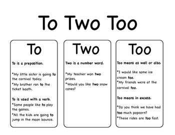 To Two Too