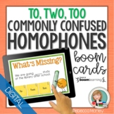 Homophones Boom Cards | Digital Task Cards | To, Two, Too