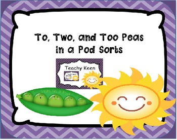 To, Two, Too Peas in a Pod Sorts