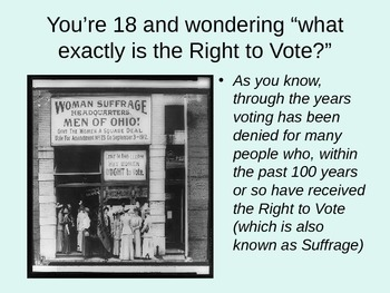 PowerPoint-To Vote, or Not to Vote... That is the question!