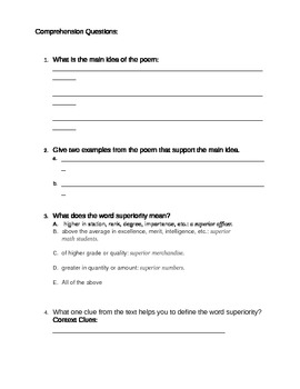 To Walk the Red Road Modified Worksheet
