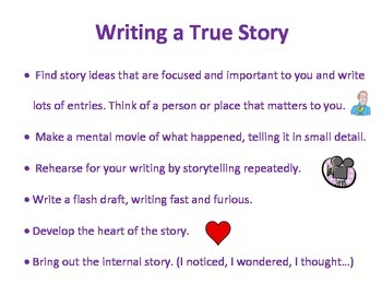 To Write a True Story