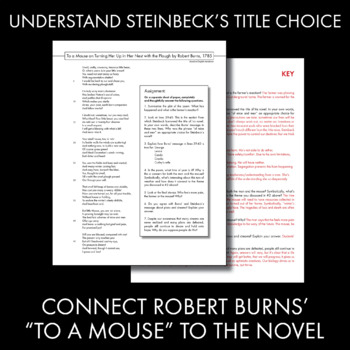 To a Mouse – Connect Robert Burns' Poem to Steinbeck's Of Mice and Men