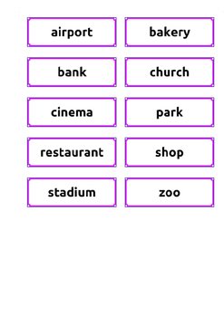 To be - In/on - Places (with Flashcards)