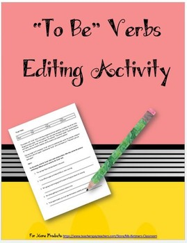 """""""To be"""" Verbs Activity"""