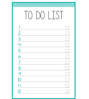 Nifty image inside blank to do list