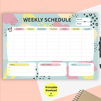 graphic about Week Planner Printable named Homeschool Weekly Planner Worksheets Coaching Supplies TpT