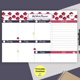 To do list, Weekly planner Printable,Weekly Organizer