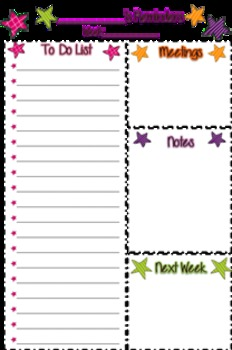 To do/reminder page
