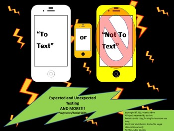 Social Skills - 'To text' or 'not to text'