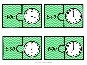 To the Hour Clock Puzzles